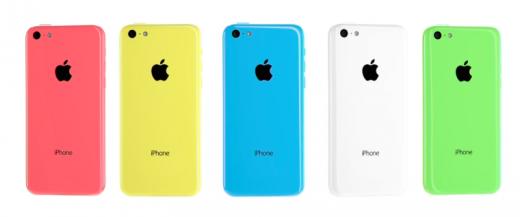 iphone 5c i olika färger