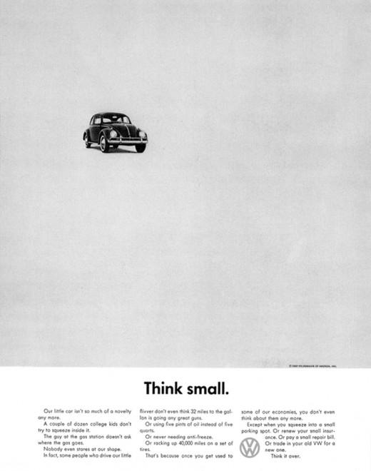 Volkswagen Ad Thinksmall