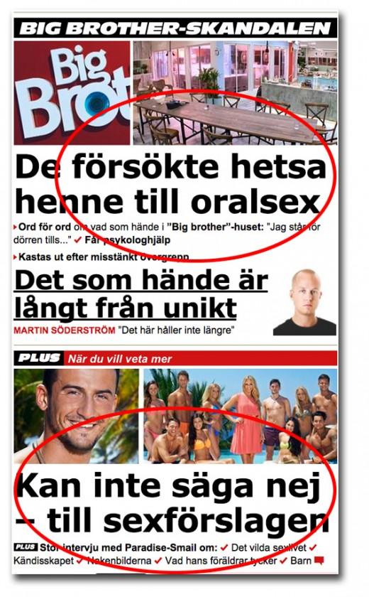 Big Brother och Paradise Hotel på Aftonbladet.se