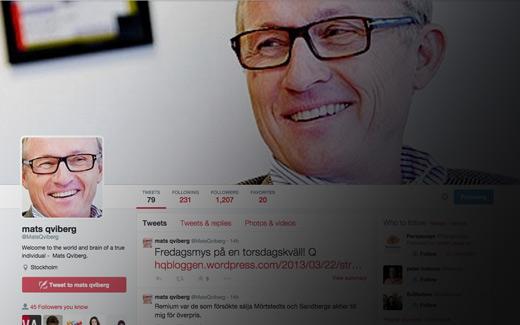 Mats Qviberg på Twitter