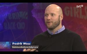 Fredrik Wass i SVT Aktuellt