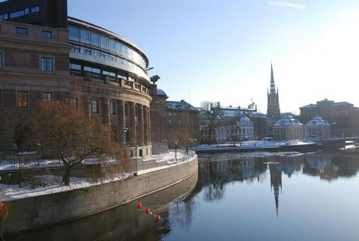 Riksdagshuset, foto: Fredrik Wass