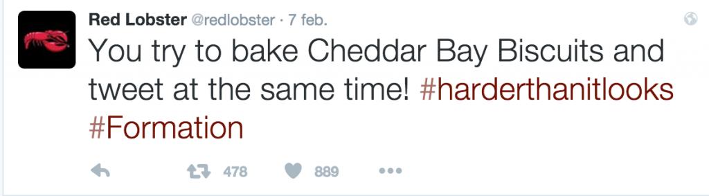 Beyoncé Red Lobster tweet