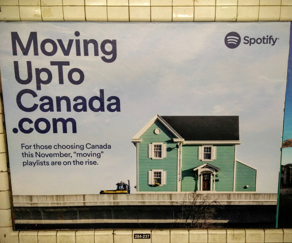 Moving up to Canada Spotify