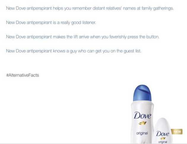 Dove alternative facts