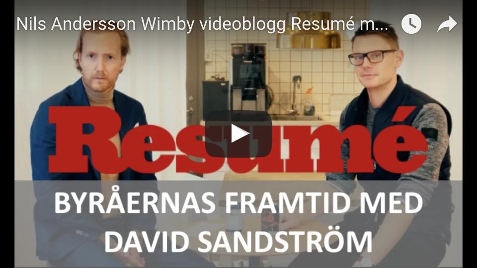 Videoblogg david sandström nils wimby
