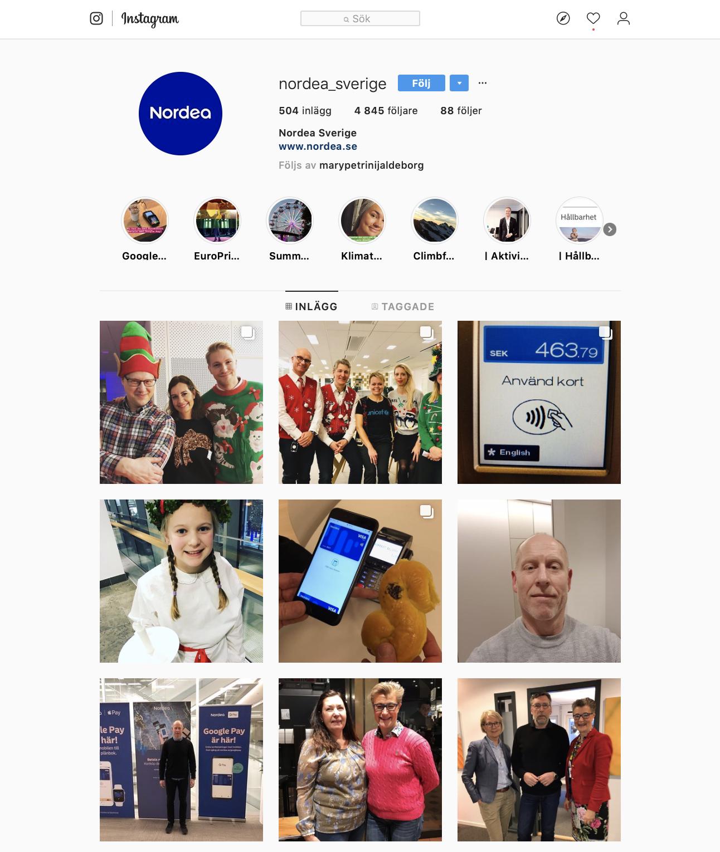 Nordea Instagram