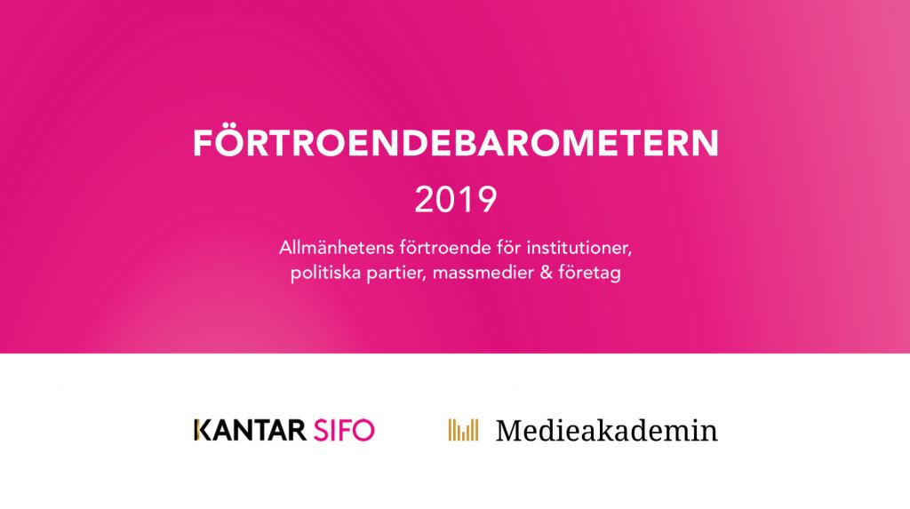 Förtroendebarometern 2019