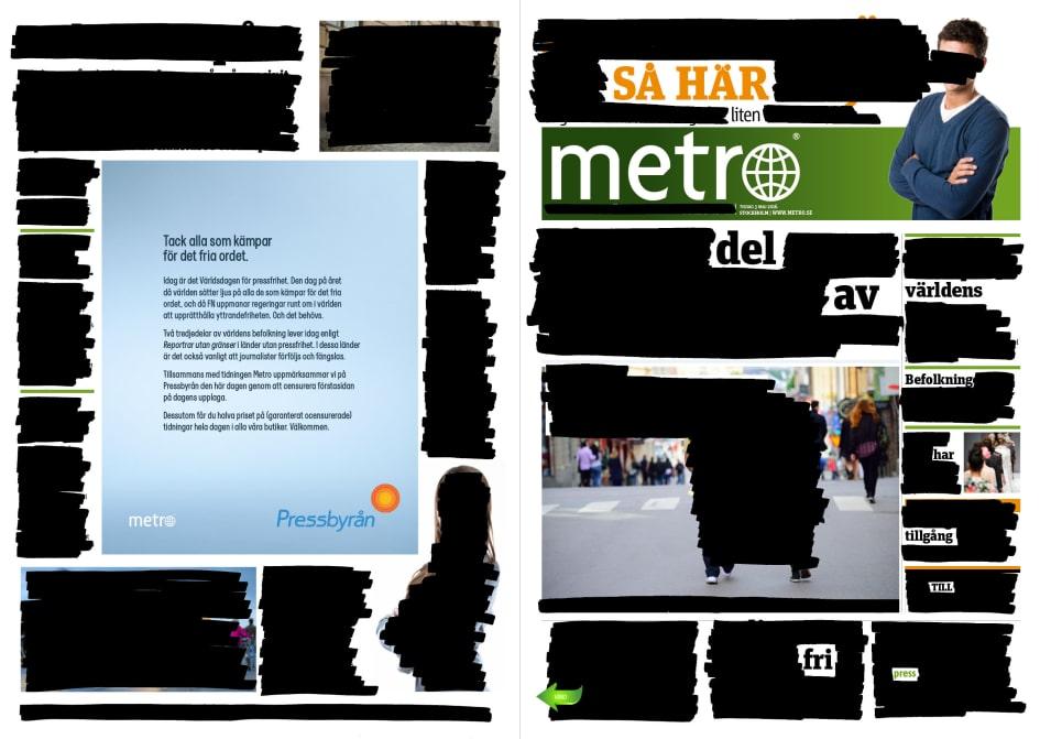 Metro pressfrihetens dag