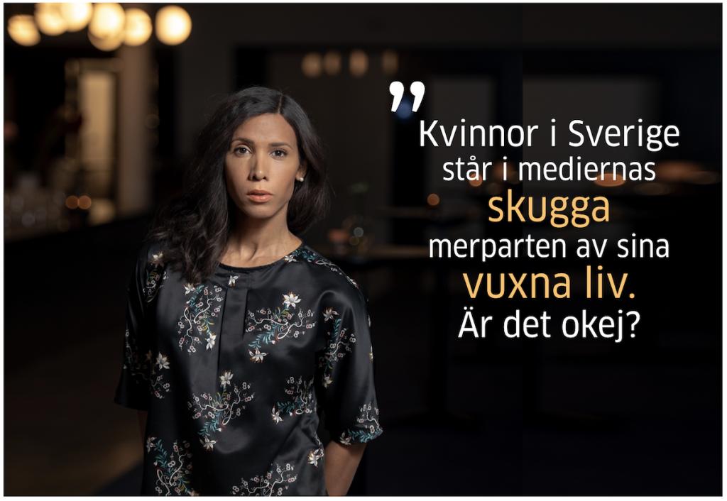 Kvinnor står i mediernas skugga enligt rapporten Rättvisaren 2019