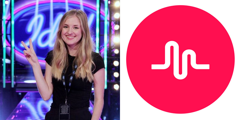 Ida Scharf, Idol/Freemantle media om Musical.ly